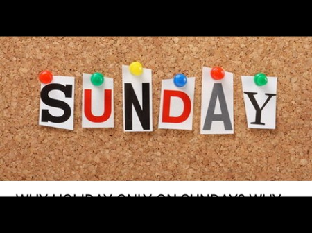 What people mostly do on Sundays in Nigeria.