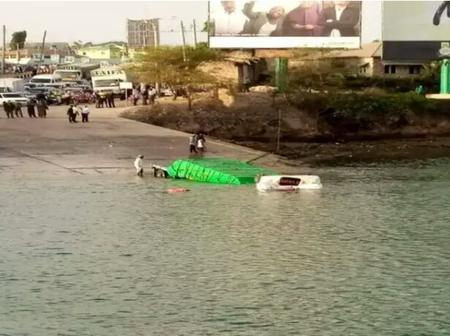 Another vehicle plunges into the Indian Ocean