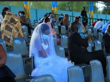 Newly Wedded Couples Forced To Spend Wedding Night Outside In An Empty Stadium