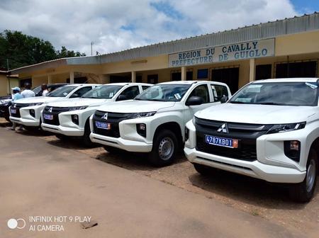Le conseil régional du Cavally dote 4 brigades de gendarmerie de véhicules