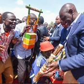 Dp Ruto Given Special Gift 'Litungu' By Kakamega Residents As They Chant