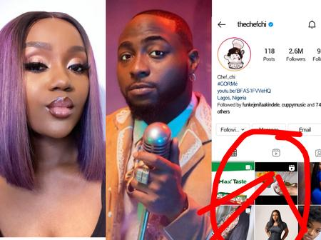 Few Days After Davido Was Captured Kissing Another Lady, Chioma Deletes All The Pictures Of Her With Davido