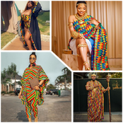 Ex BBN Stars In Kente Attire, Who Rocked It The Best? See How Fans Voted Online