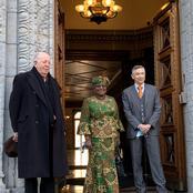 Epitome of Beauty as Ngozi Okonjo-Iweala Wears Fashionable Ankara to WTO Headquarters in Geneva