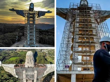 Check Out Photos of The New Statue Of JESUS That Is Bigger Than