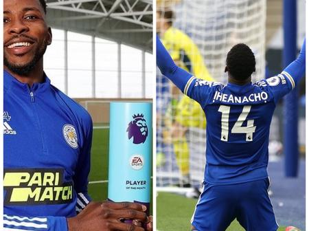 Reactions As Kelechi Iheanacho Becomes Premiere League Player Of The Month For March