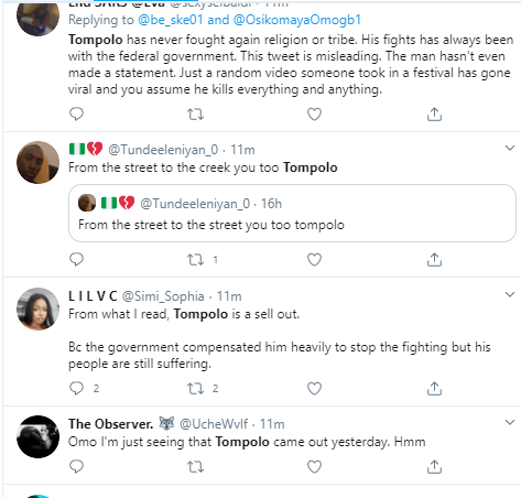Nigerians react as former militant leader, Tompolo comes out of hiding after 6-years