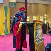 See Jonathan's Outfit In Today's Convocation Ceremony At Gregory University, Uturu