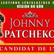 Johnny Patcheko annonce sa candidature pour les législatives