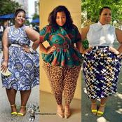 Checkout These Colourful Ankara For Plus Size Ladies