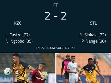 Kaizer Chiefs failed to beat Stellenbosch as they drew 2-2 in last minutes