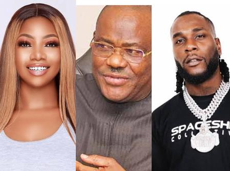 Nigerians Blast Tacha After Supporting Governor Wike Concerning Gifting Burnaboy (Video)