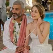 حافي القدمين ومرتديًا إكليل ورود .. كيف ظهر هاني عادل فى حفل زفافه (صور)