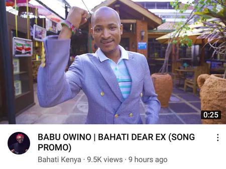 Babu Owino in Bahati's Song Promo