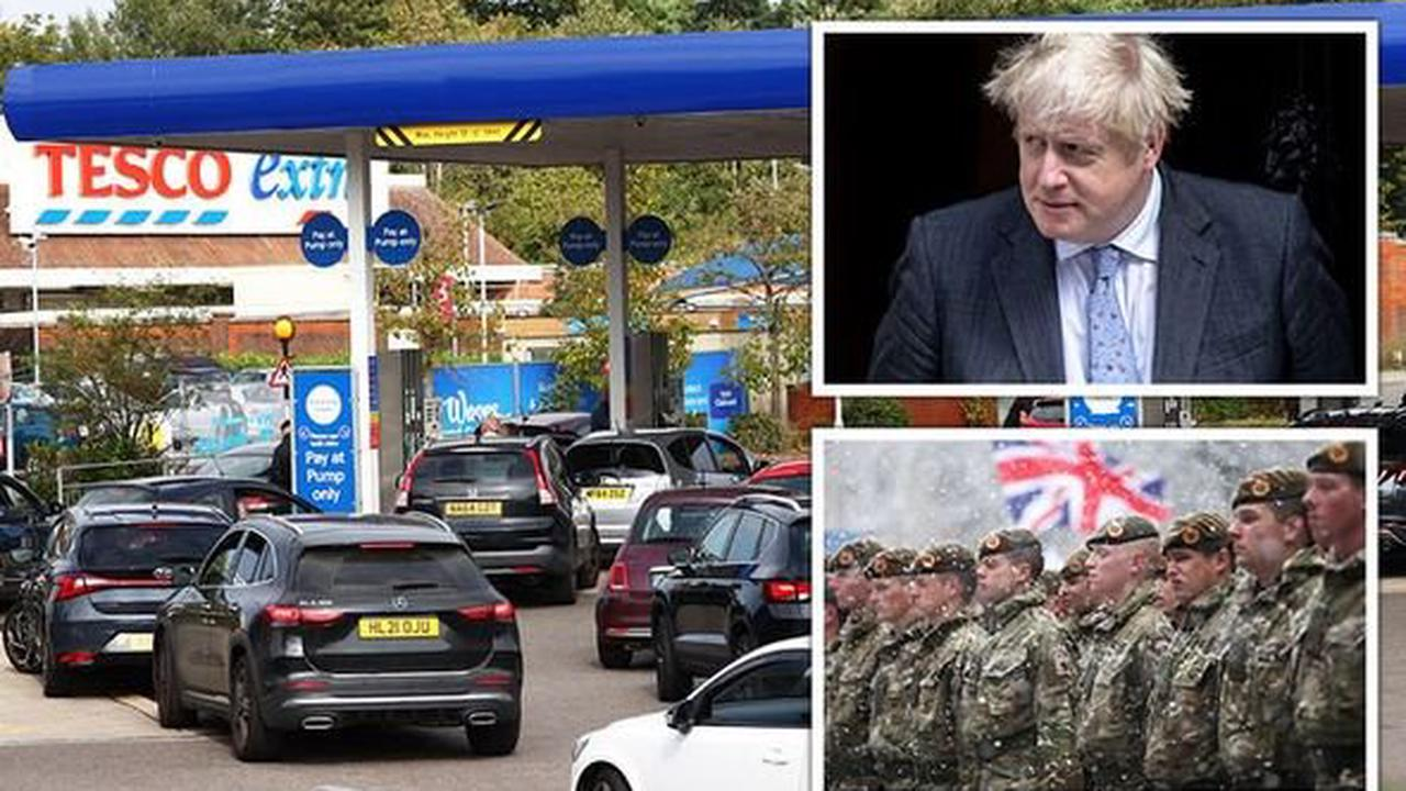 Petrol stations LIVE: Boris sends in army as panic-buying chaos sparks 90% loss of fuel