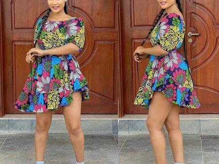 20 Elegant Ankara Short Gown Styles for Slay Queens (See Photos)