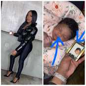 Mixed reactions as lady shares what she noticed in her new born baby (Photos)