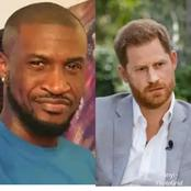 Twitter User Reveals The Only Difference Between Peter Okoye And Prince Harry Of England