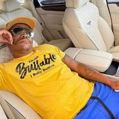 Fans go crazy over Somizi Mhlongo's expensive car's interior as his Shirt catch their attention.