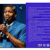 Bishop E.A. Adeboye Release 15 Prophetic Prayers For 1st March 2021, Check To Read