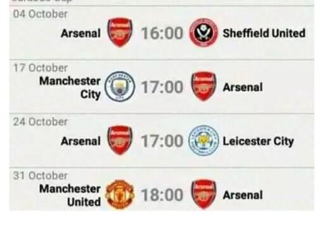 Opinion: I Doubt Arsenal Might Be Among The Top10 In The Table After These Matches