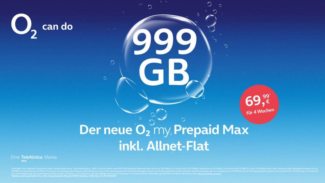 O2 my Prepaid Max – fast unbegrenztes Datenvolumen zur Freikarte