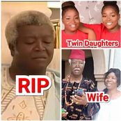 RIP To Nollywood Veteran Bruno Iwuoha: Check Out Photos Of His Wife And Grown-Up Twin Daughters