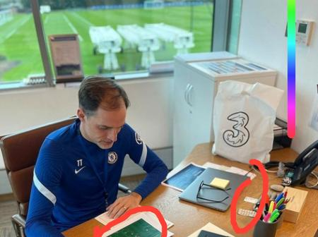 Checkout what was spotted on Thomas Tuchel's desk that cause reaction on social media