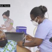 Covid-19 Vaccine: Nana Addo Takes his Vaccine Jab.