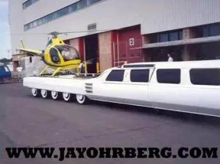 The Car With A Helipad, A Swimming Pool, Driving Board And Also The Longest Car In The World.