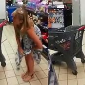 SA woman takes off her panty and uses it as mask inside the store - video