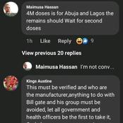 Nigerians reactions to Covid Vaccine on Facebook (Photo)