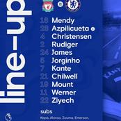 Teams news : Chelsea and Liverpool confirmed their lineup