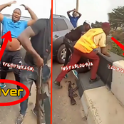 Driver Trying To Escape From LASTMA Official Allegedly Hit Policeman Off A Bridge [VIDEO]