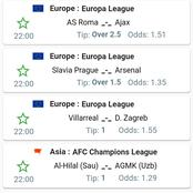 Best Football Predictions for Today including Europa leagues that will Win Massively.