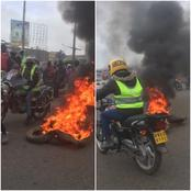 Boda-Boda Again? Demonstration at Githurai 45 Roundabout as Riders Engage Police Officers