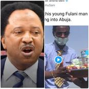 Shehu shares a photo of a neatly dressed Fulani man selling kola nut