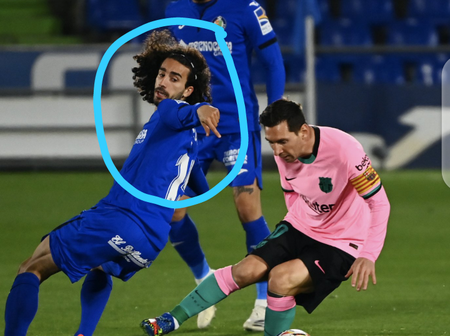 See What Lionel Messi Did Against Getafe that Surprised his fans (Photos)
