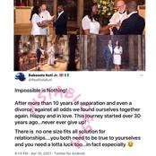 A Couple Reweds, After They Were Divorced And Separated For 10years.