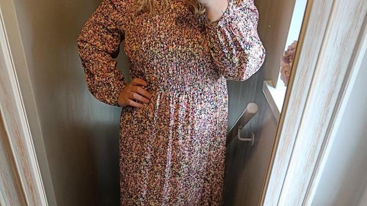 I tried Matalan's £18 dress shoppers loved and it is the perfect autumn midi
