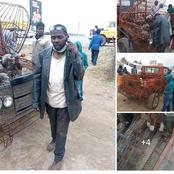 This Igbo Man is Making Us Proud -See a Car An Igbo Man Produced With Barb Wire(PHOTOS)