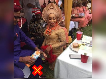Instead of palm wine, See what this couple used in traditional marriage that made Igbos blast them