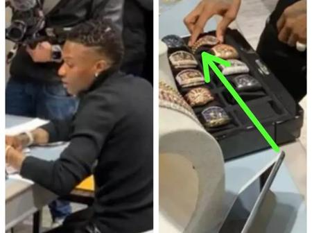 After Wizkid went to a diamond jewelry store, see what he failed to do that made people happy