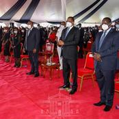 The Person Who Sat Next To Uhuru At Juja MP's Funeral [Photo]