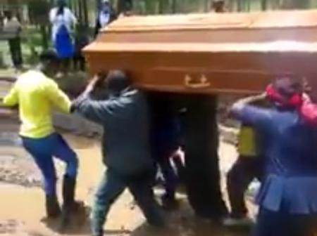 Reason Mourners Carried a Casket While Chanting 'Haki Yetu' in Nyandarua (Photos)