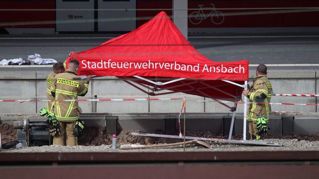 Bahnhof Ansbach nach Fund einer Fliegerbombe gesperrt