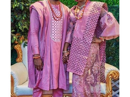Check-Out This Classic Nigerian Traditional Couple Attire