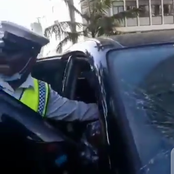 Drama as a Driver Who Hit a Pedestrian in Kimathi Streets, Nairobi is Dealt With (Video)