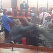 Dramatic Scenes As Nyamira MCAs Exchange Blows In The County Assembly