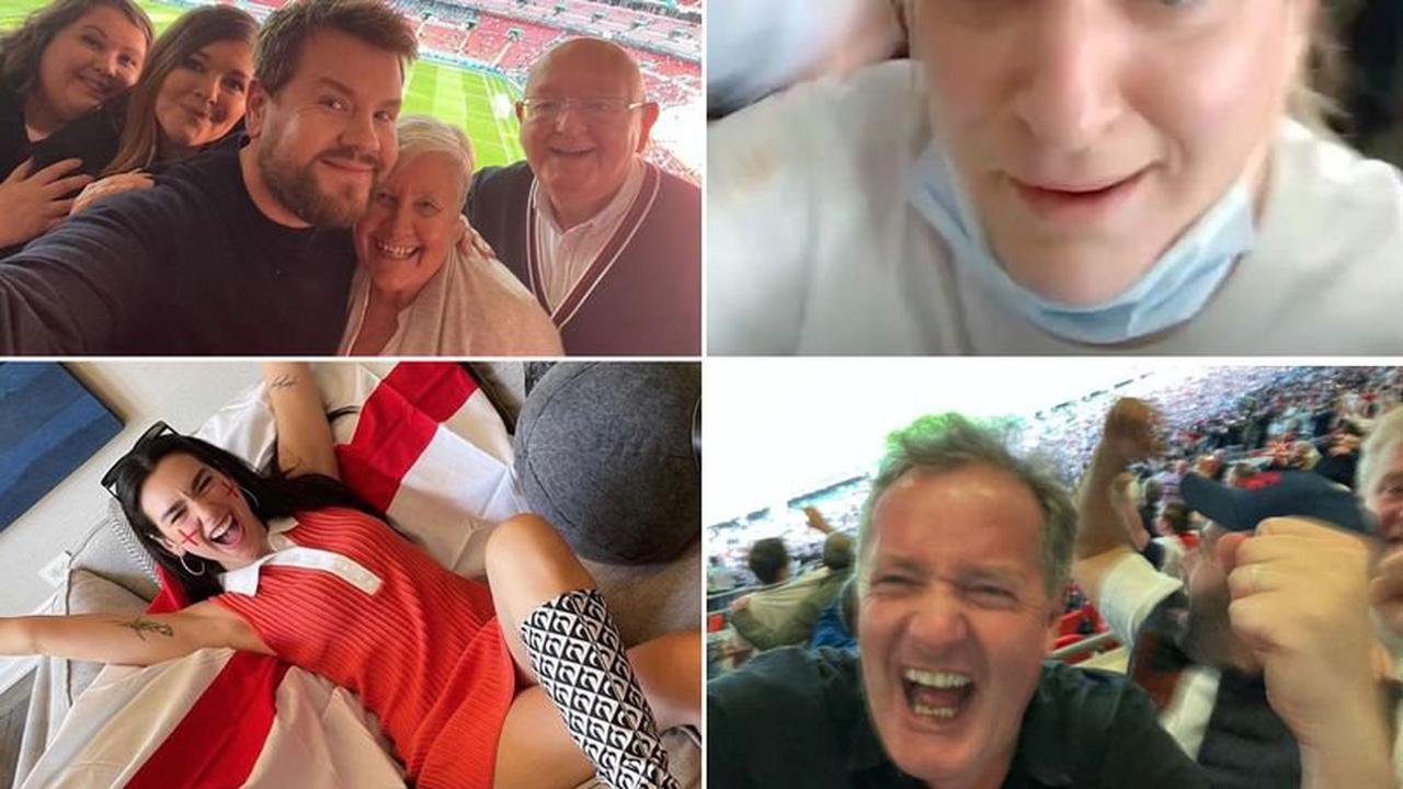 Daisy May Cooper and James Corden among stars celebrating England Euro win